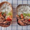 春休みの置き弁・豚ヒレ肉のバルサミコソテー弁当