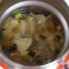 スープジャー弁当 春キャベツのお味噌汁