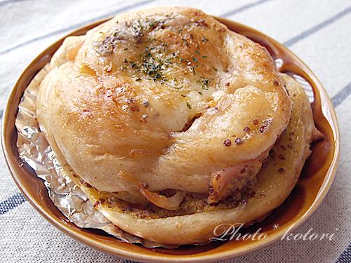 ハムマスタードパン