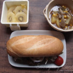 セミフランスパンサンドとスープジャー弁当