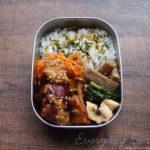 鶏肉とサツマイモの甘辛炒め弁当