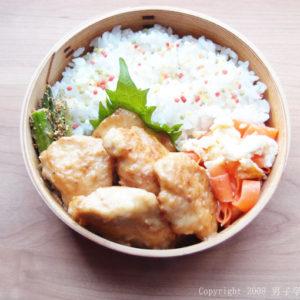 鶏むね肉の味噌マヨで男子学生弁当