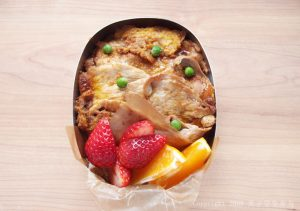 生姜焼きの卵とじ弁当