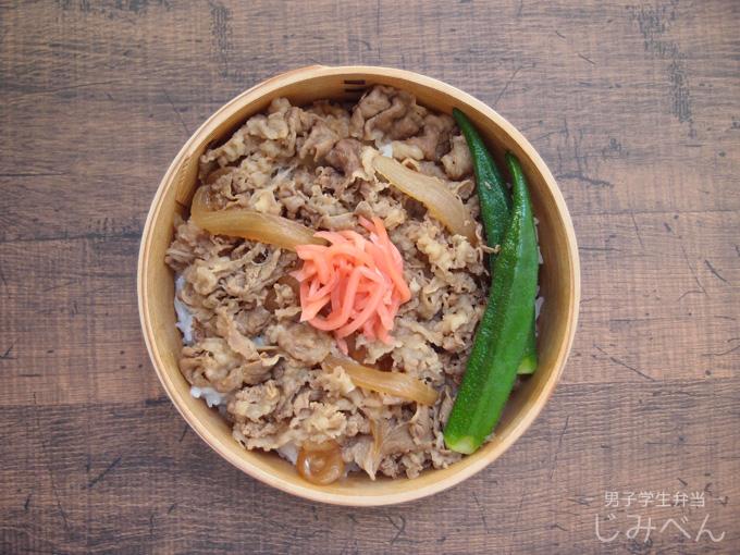 【地味弁】牛丼弁当