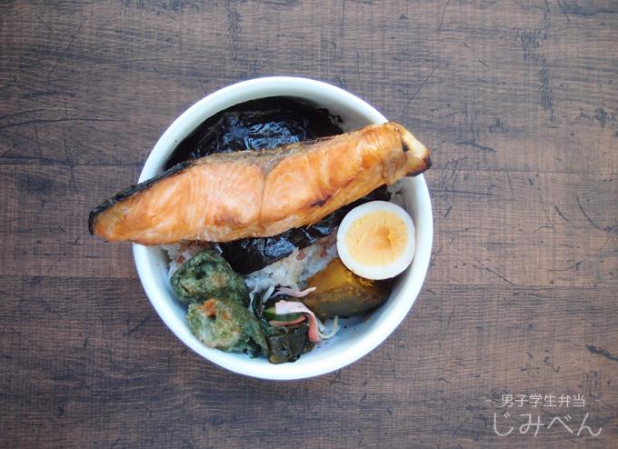 【地味弁】海苔弁で男子学生弁当