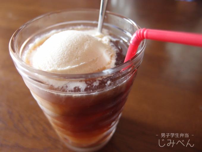 コーヒーフロート コープ バニラアイスクリームで追いアイス