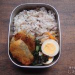 【地味弁】白身魚のフライのめんつゆ煮弁当