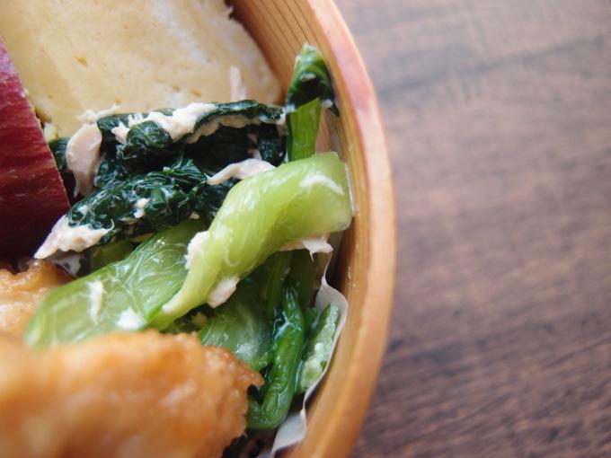 小松菜とツナのマヨ和え
