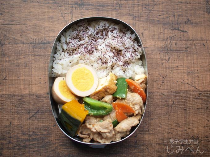 【地味弁】豚肉と厚揚げの味噌炒め弁当