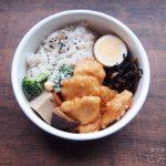 【地味弁】鶏むね肉のピリ辛味噌炒め弁当