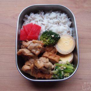 【地味弁】鶏肉と厚揚げのポン酢煮弁当
