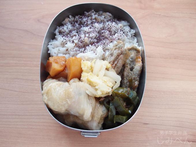 【地味弁】ロール白菜弁当