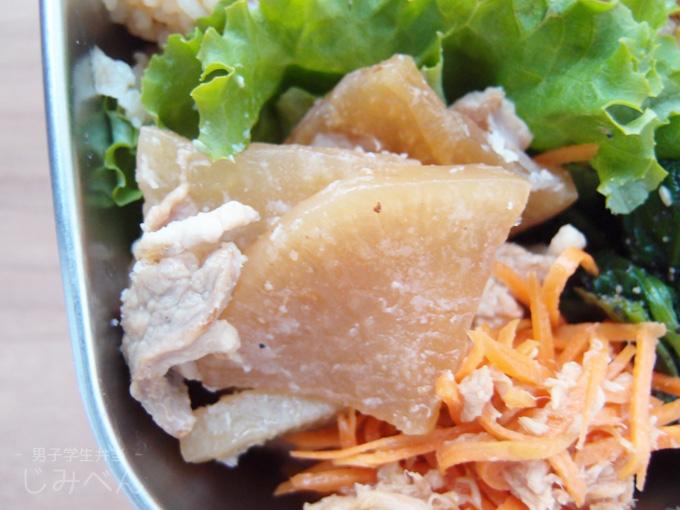 バラ肉と大根の甘辛煮