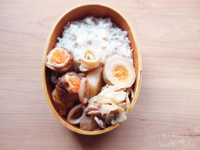 【地味弁】豚肉の野菜巻き弁当